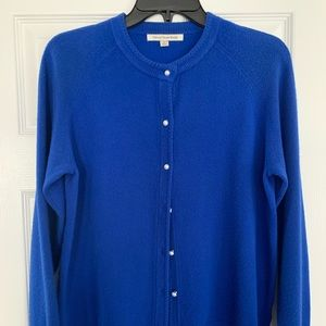 Beautiful Royal Blue cardigan with pearl buttons